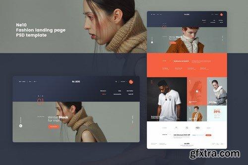Ne10 - Fashion landing page PSD template
