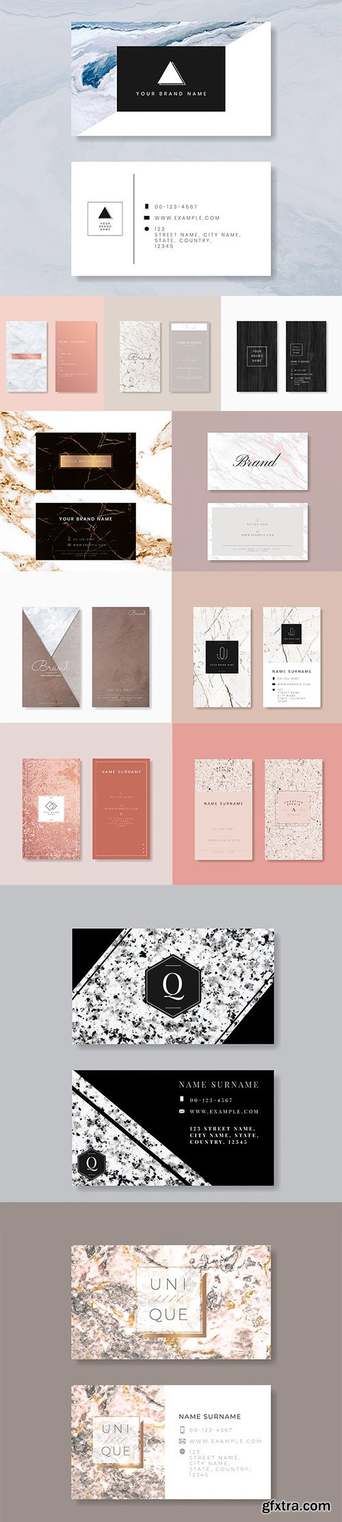 Set of Professional Business Card Templates vol2