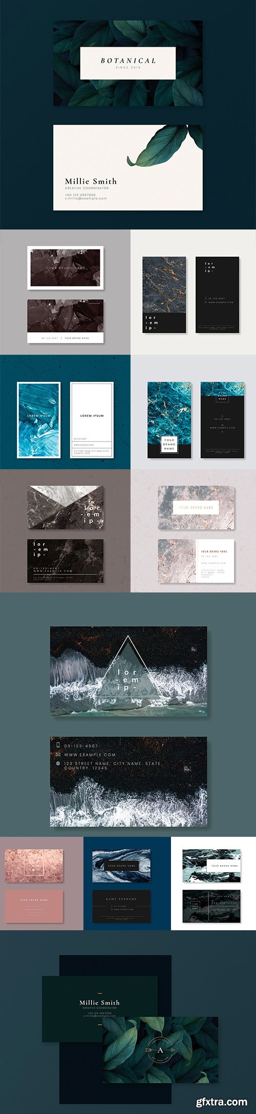 Set of Professional Business Card Templates vol3