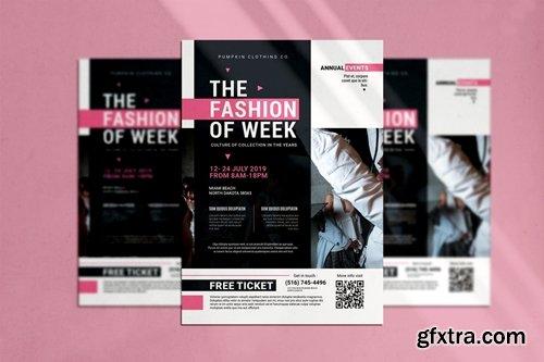Fashion Of Week Flyer
