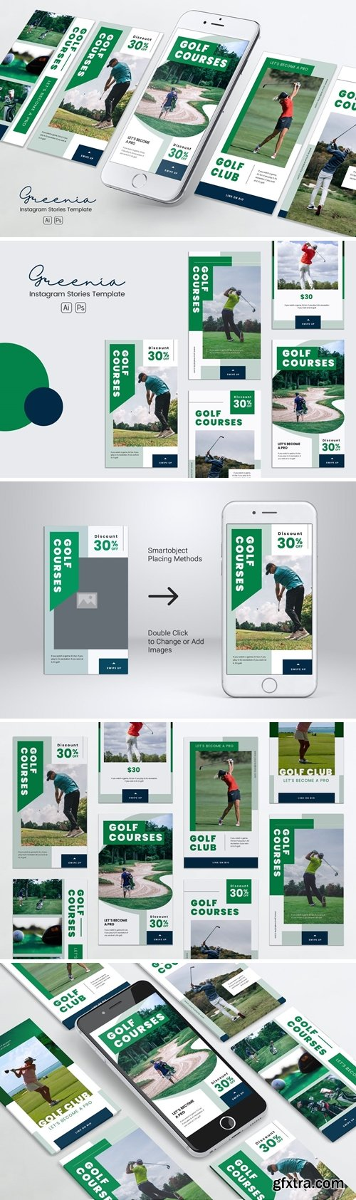 Golf Competition Instagram Stories PSD & AI