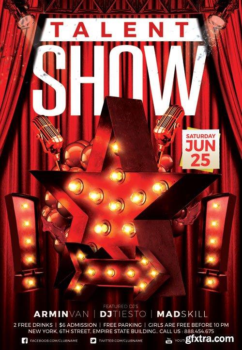 Talent show - Premium flyer psd template