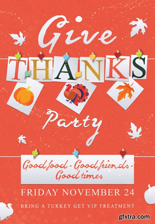 Thanksgiving party - Premium flyer psd template
