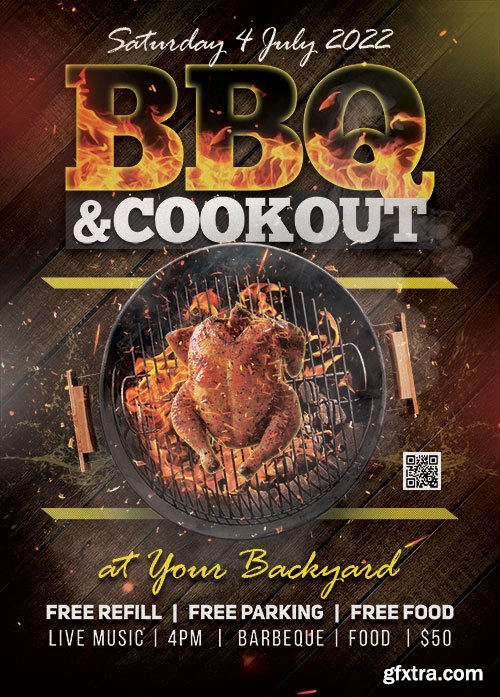 BBQ Party - Premium flyer psd template
