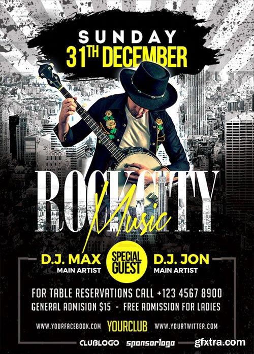 Rock Music Party - Premium flyer psd template