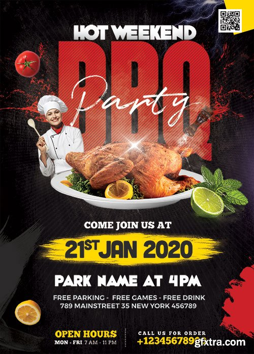 Weekend BBQ Party - Premium flyer psd template