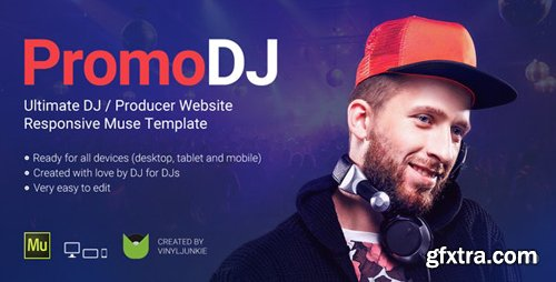 ThemeForest - PromoDJ v3.0 - DJ / Producer / Musician Website Responsive Muse Template - 6853338