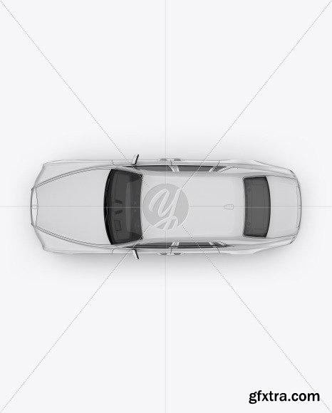 Luxury Car Mockup - Top View 48474