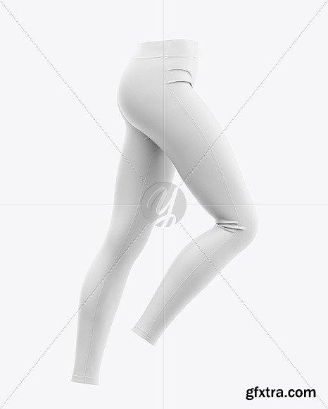 Women's Leggings Mockup - Side View 48473