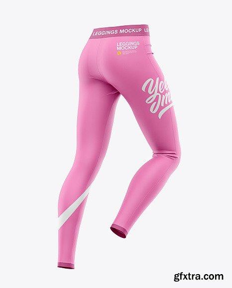 Women's Leggings Mockup - Back Half-Side 48546