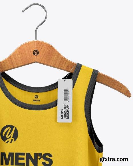 Sleeveless Shirt on Hanger Mockup 48482