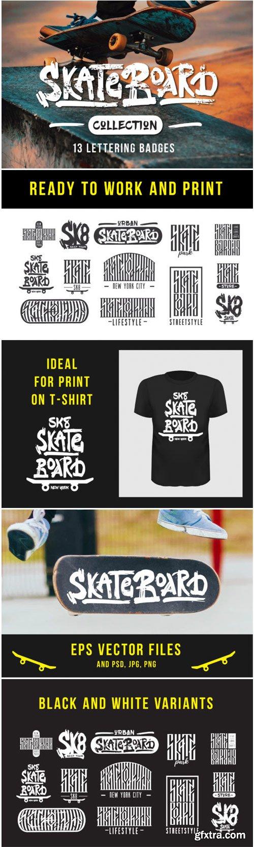 Skateboarding T-shirt Design 1761114