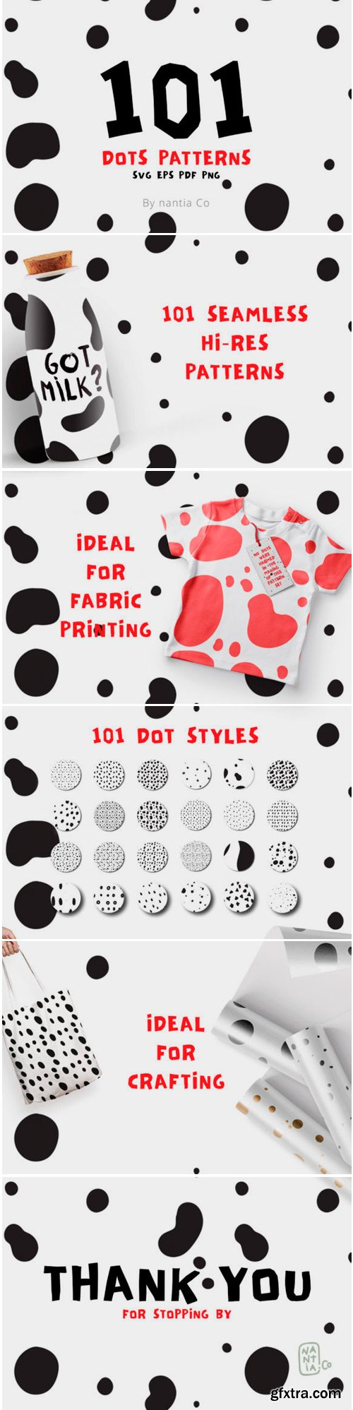101 Dots Seamless Patterns Vector 1761599