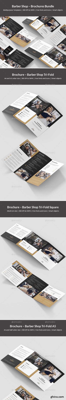 GraphicRiver - Barber Shop – Brochures Bundle Print Templates 5 in 1 24036407