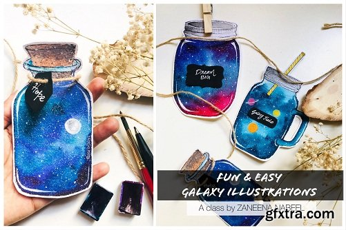 Fun & Easy Galaxy Illustrations - An Intro to Sticker Making