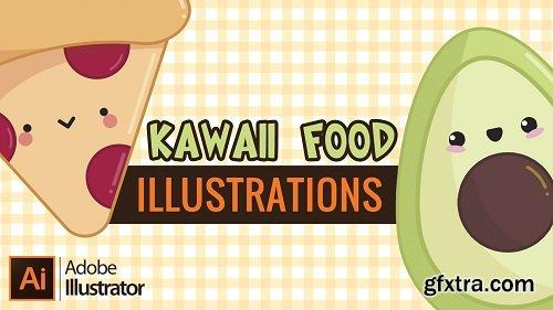Creating kawaii food illustrations in Adobe Illustrator