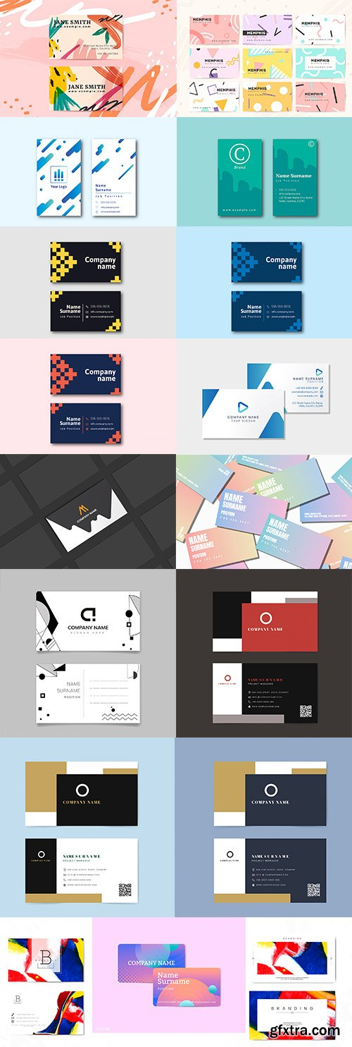 Set of Professional Business Card Templates vol6