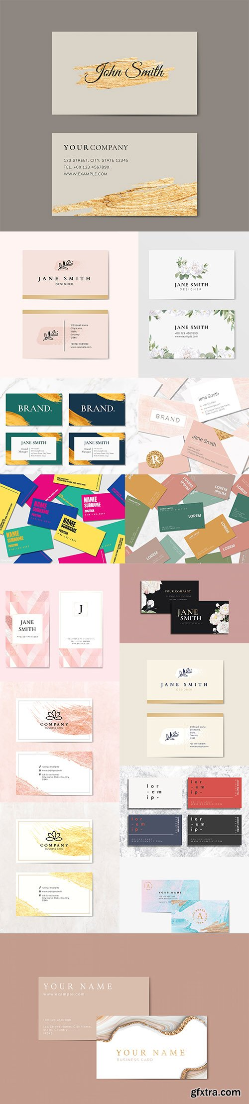 Set of Professional Business Card Templates vol5