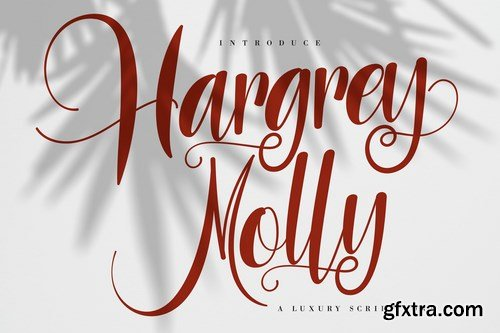 Hargery Molly Luxury Script Font