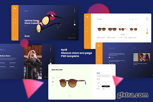 Ne19 - glasses store one page template