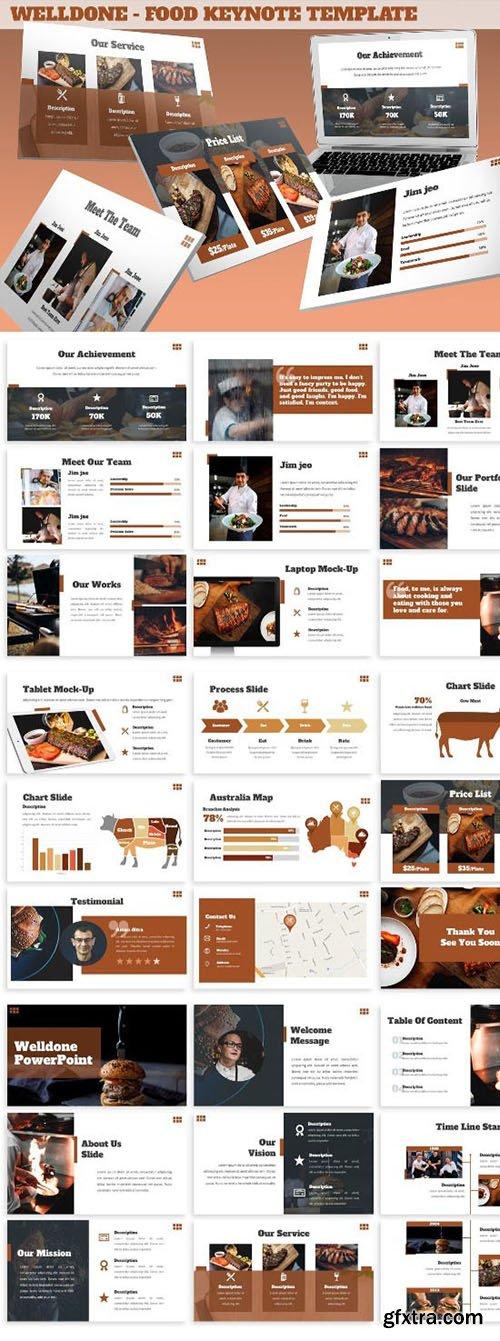 Welldone - Food Keynote Template