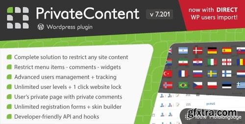 CodeCanyon - PrivateContent v7.201 - Multilevel Content Plugin - 1467885