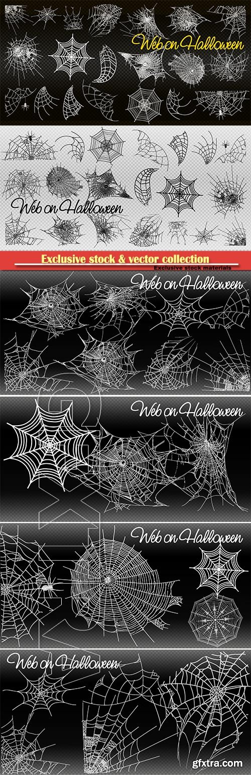 Spiderweb for Halloween design vector templates