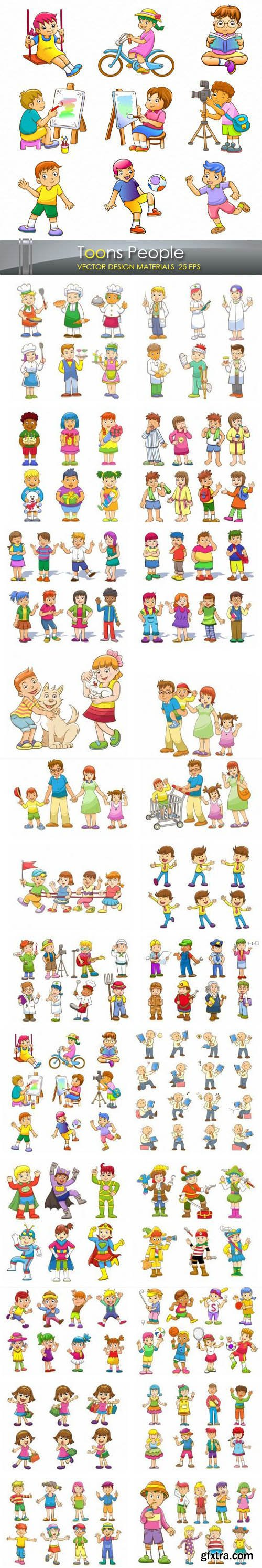 Playing Children - Toons People - Children's Clipart