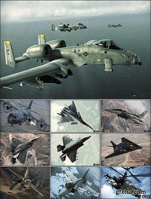 141 Aircraft 3D Models + Textures