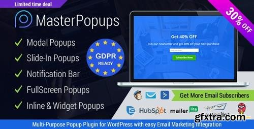 CodeCanyon - Master Popups v2.9.6 - WordPress Popup Plugin for Email Subscription - 20142807 - NULLED