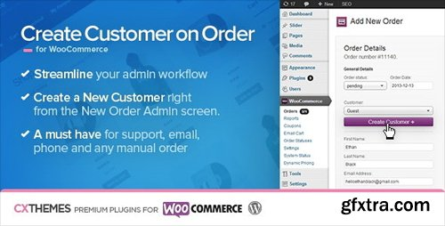 CodeCanyon - Create Customer on Order for WooCommerce v1.36 - 6395319
