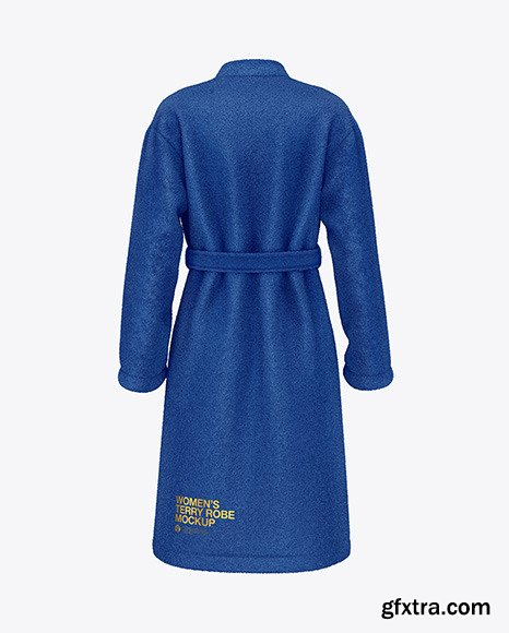 Women\'s Terry Robe Mockup - Back View 48649