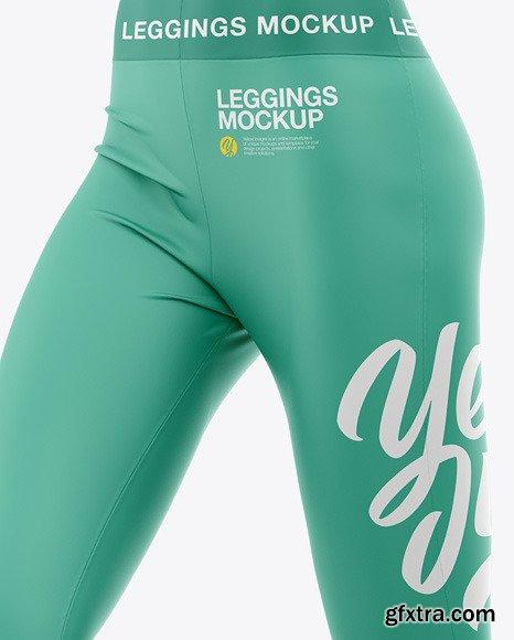 Women's Leggings Mockup - Front Half-Side View 48648