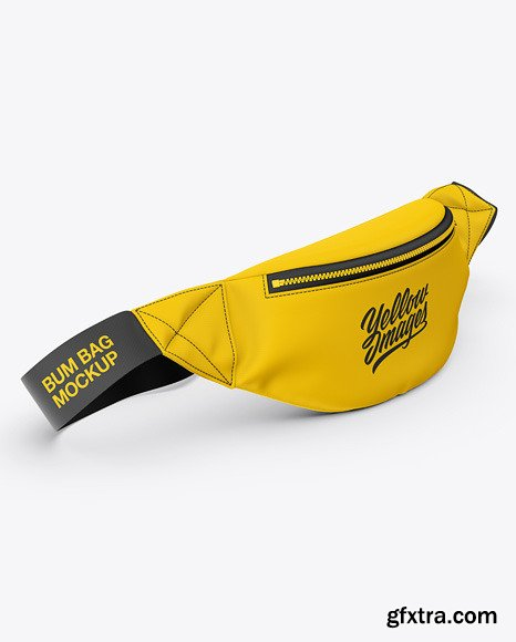 Fanny Pack Mockup - Front Half-Side View 48688