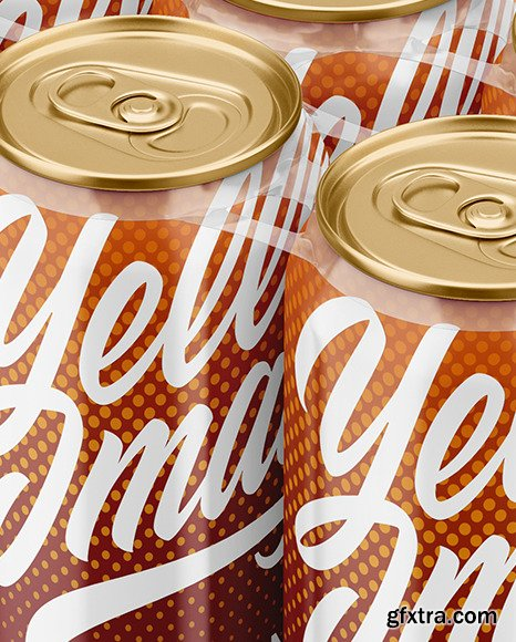 6 Glossy Cans Pack Mockup 48686
