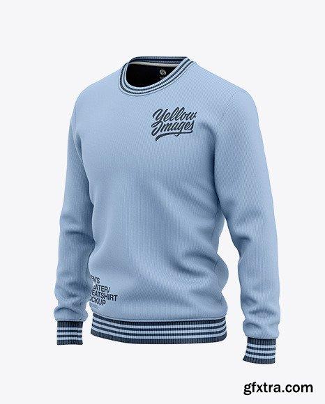 Men\'s Crew Neck Sweatshirt/Sweater Mockup 48678