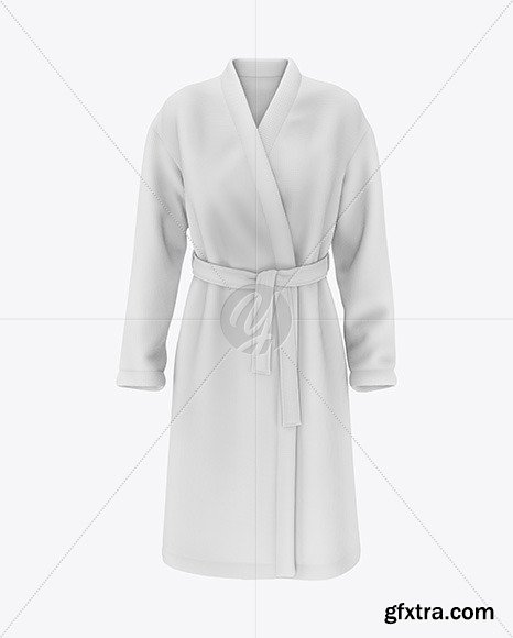 Women\'s Waffle Robe Mockup - Front View 48677