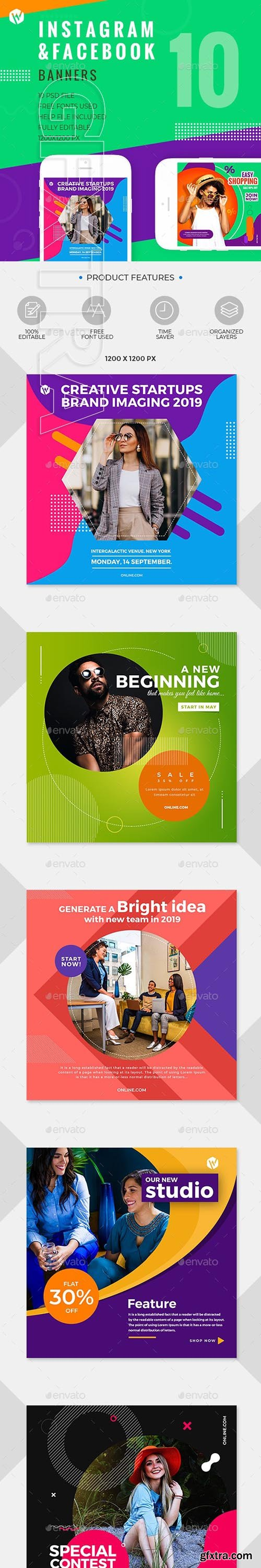 GraphicRiver - 10 Instagram & Facebook Banners 24535284