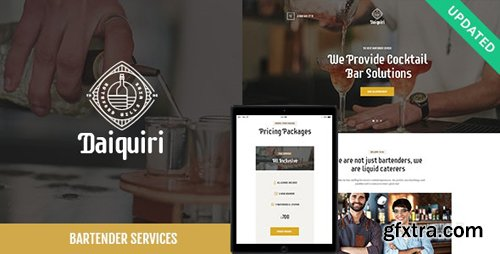 ThemeForest - Daiquiri v1.1 - Bartender Services & Catering Cocktail WordPress Theme - 21628334