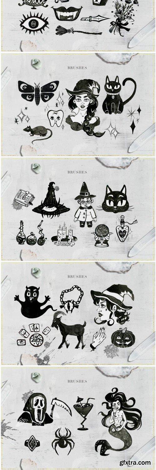 75 Witchcraft Photoshop Brushes 1764668