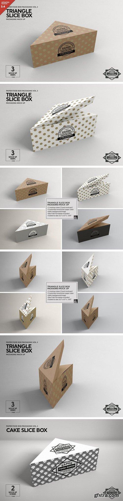 CM - Cake Slice Box Packaging Mockup 1211251