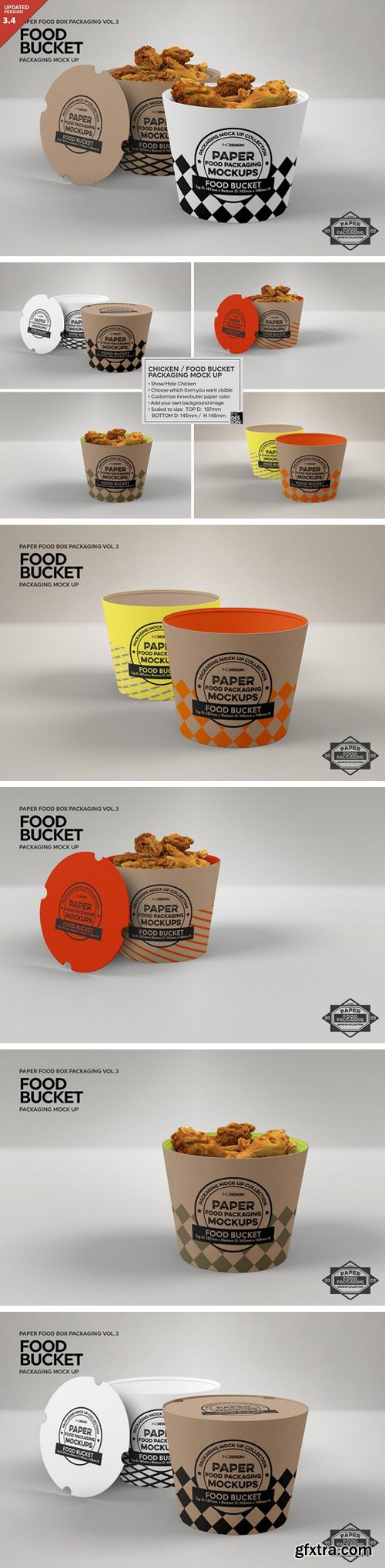 CM - Paper Food Bucket Packaging Mockup 1211261