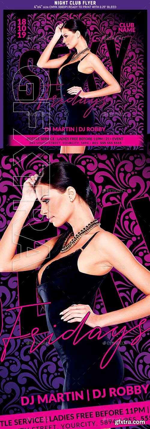 GraphicRiver - Night Club Party Flyer 24521040