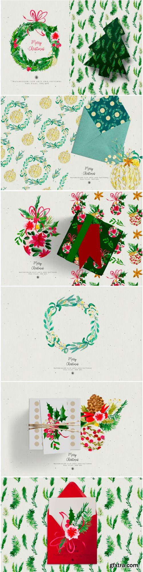 Christmas Watercolor Decorations 1766692