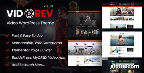 ThemeForest - VidoRev v2 3 9 - Video WordPress Theme