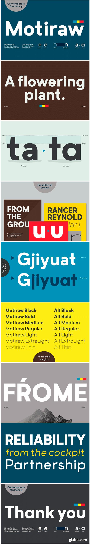 Motiraw Font Family