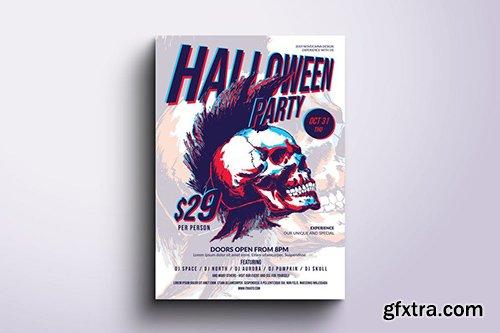 Funky Halloween Poster & Flyer v6