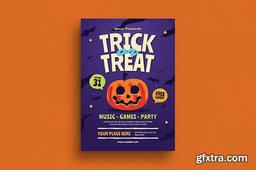 Halloween Trick or Treat Event Flyer