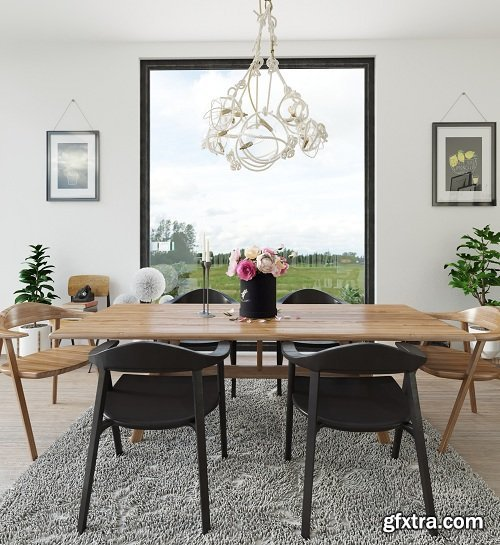 Dining Room Interior Scene 15