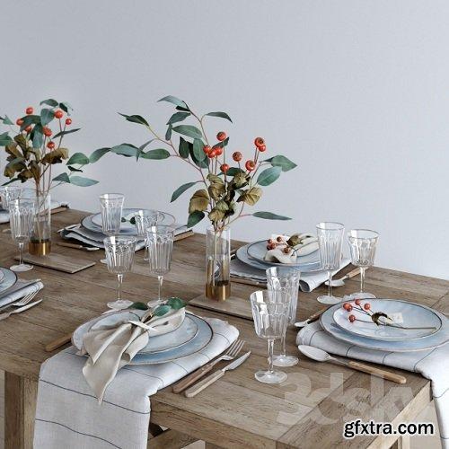 Tableware Rustic 3d Model